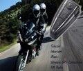 D2 500 m Bluetooth Intercomunicador de La Motocicleta del Casco de la Moto Interphone/Radio FM/GPS Bluetooth Del Intercomunicador 3.0 4 Botones de Operación