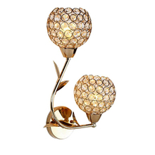 Simple fashion warm crystal creative led wall lamp living room bedroom staircase indoor wall lights
