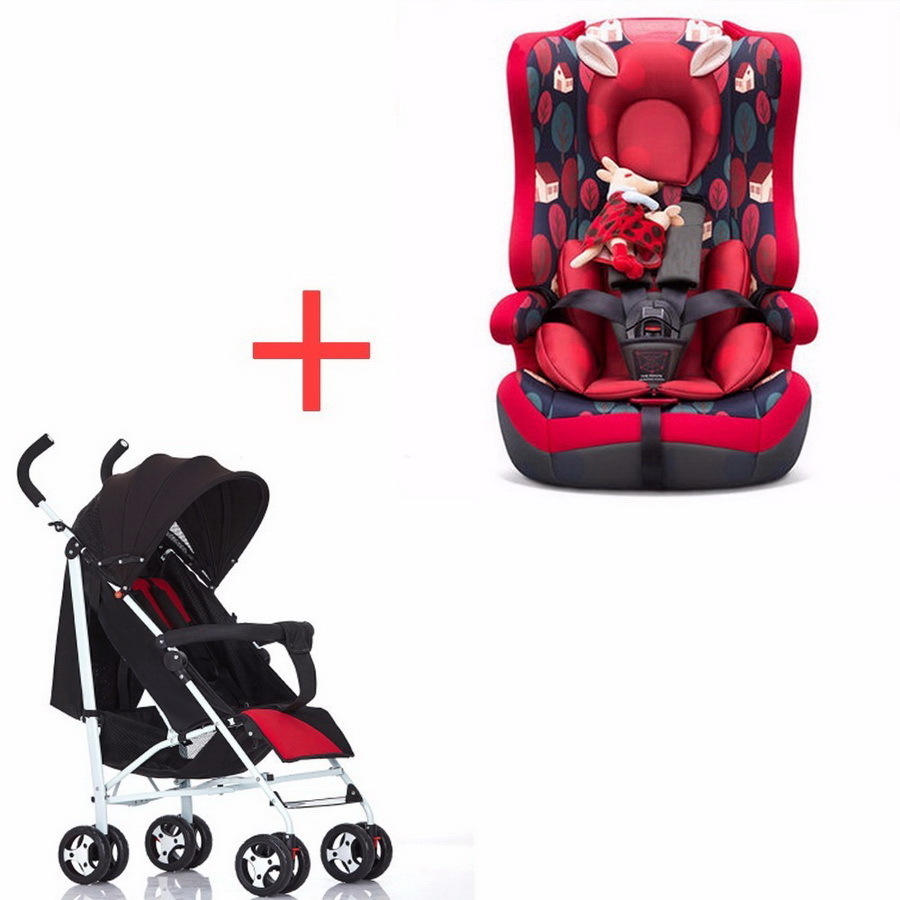 Free Shipping Baby Child Safety Chair Car 9 months-12 Seat Belt Holder and Stroller Combination child safety seat car baby car seat 9 12 years old 3c certified chair and stroller combination set sy 215 5
