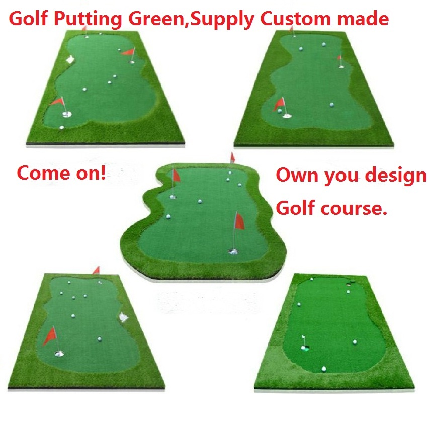 Factory Direct Sale Golf Green Turf Synthetic Turf Custom Made Golf Putting Mat Green Turf Design By Yourself