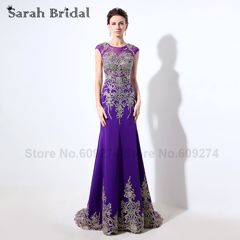 Mermaid Evening Dresses vestidos de renda Embroidery Lace Black Red Purple  Formal Dubai Abaya Party Gown 2016 Arabic Dress LX039-in Evening Dresses  from ... 43820e8db