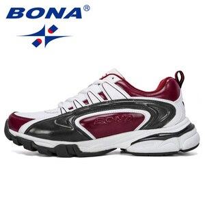 Image 5 - BONA 2019 ออกแบบใหม่ผู้ชายรองเท้าวิ่งกีฬารองเท้ากลางแจ้งรองเท้าผ้าใบ Trainers Zapatos De Hombre รองเท้าชาย
