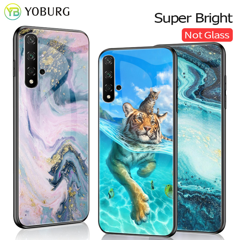 For Huawei Honor 20 20i Lite 20S Case Bright Glossy Cover PC+TPU Honor 20i 20 Lite Honor 20 Pro View 20 For Huawei Honor 20 Case