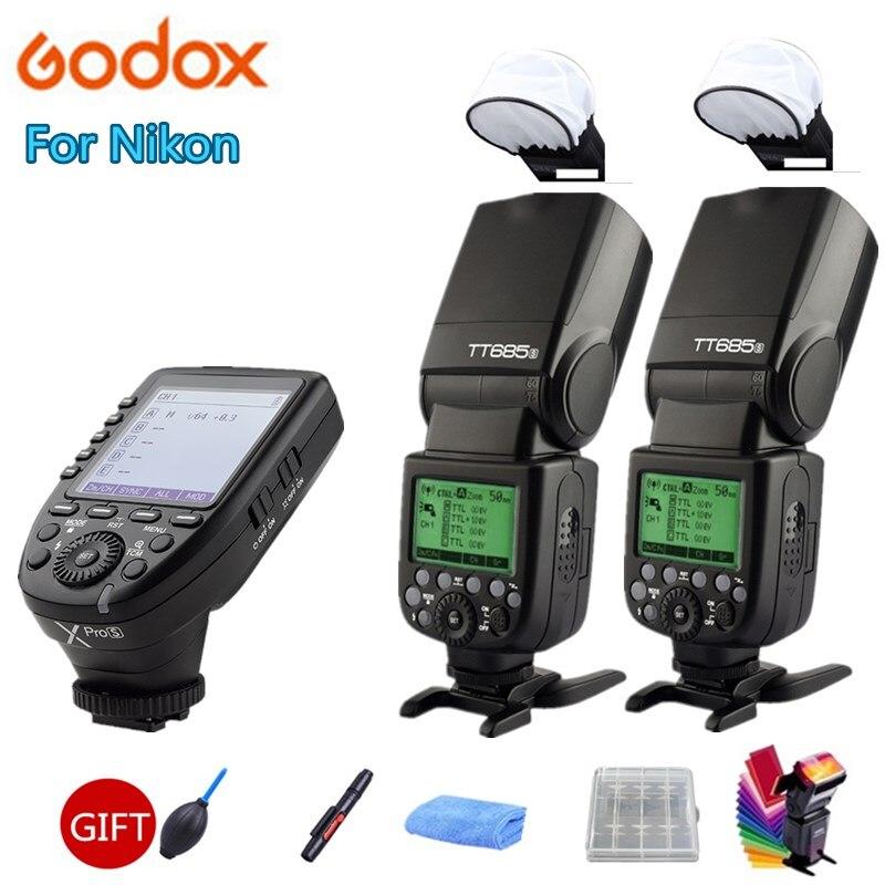 2X Godox TT685S GN60 TTL HSS 1/8000s Flash Speedlite Light + Xpro-S Trigger Transmitter for Sony A77II A7RII A7R A58 A992X Godox TT685S GN60 TTL HSS 1/8000s Flash Speedlite Light + Xpro-S Trigger Transmitter for Sony A77II A7RII A7R A58 A99