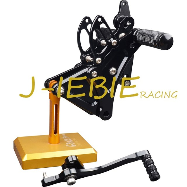 CNC Racing Rearset Adjustable Rear Sets Foot pegs Fit For Buell XB9 XB12 XB9R XB12R S BLACK