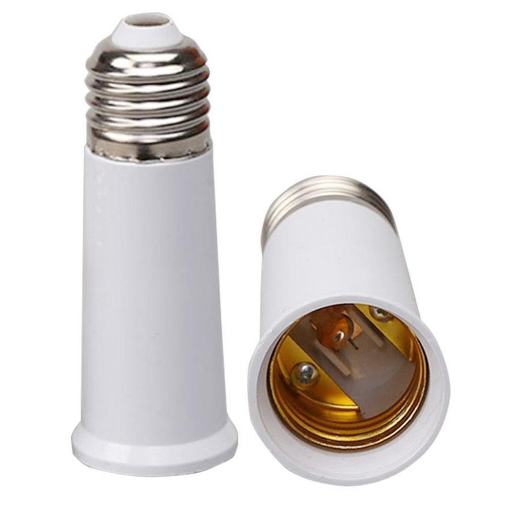 5pcs vis blanche E27 douille de base de support de lampe ampoule