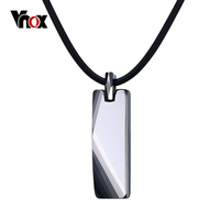 Vnox Geometric Necklace For Men Jewelry Pure Tungsten Carbide Men S Good Luck Necklaces Pendants Gift