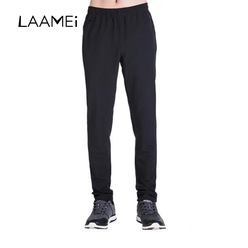 Laamei Autumn Fashion Men Fitness Pants Waterproof UV Breathable Elasticity Compression Pants Male Quick Dry Workout Pants