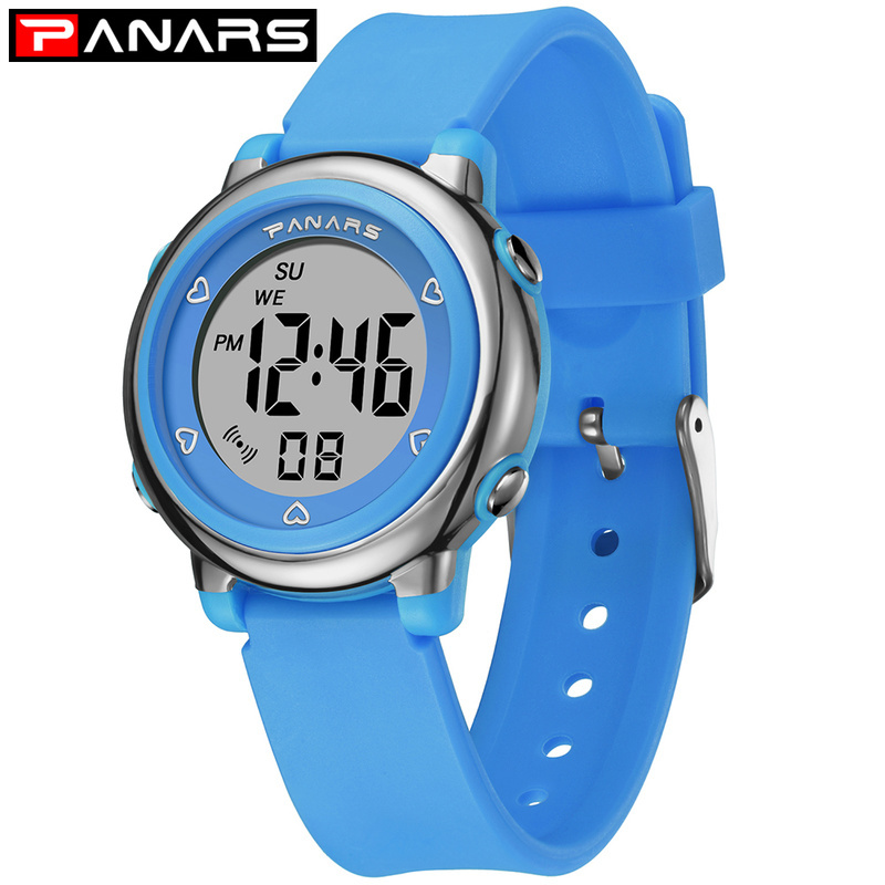 PANARS Kids Boys Watches Children 50M Waterproof Digital LED Fashion Cute Students Wrist Watch Sport Gift For Girls Men Clock