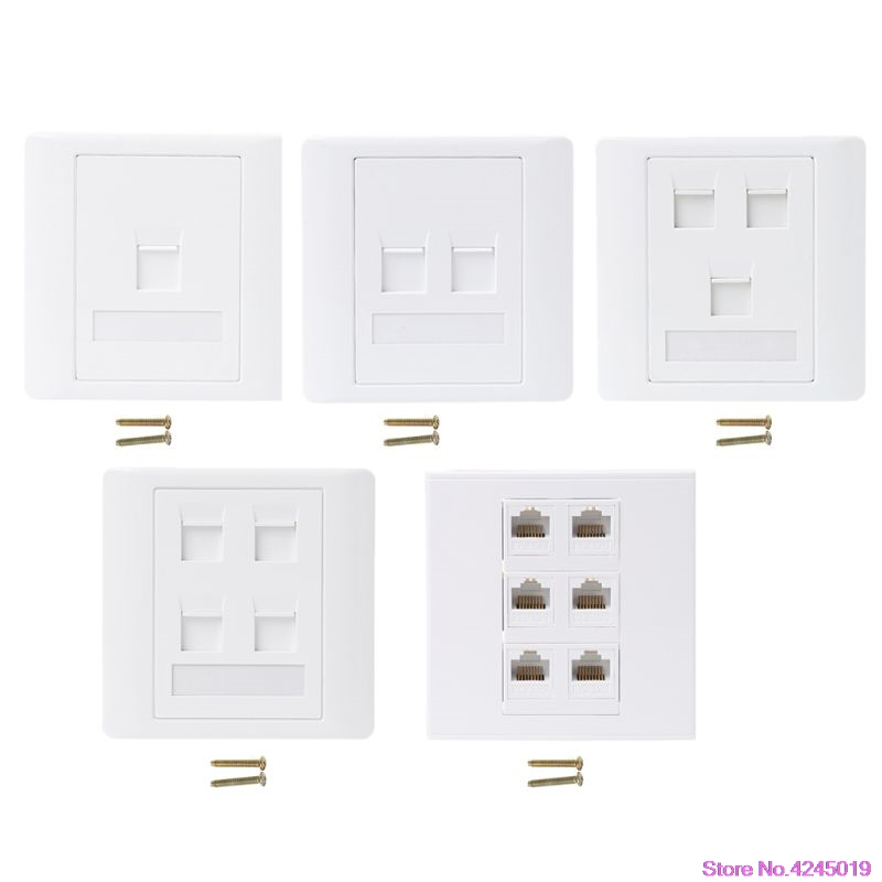 New 86 Type Computer Socket Panel CAT5E Network Module RJ45 Cable Interface Outlet