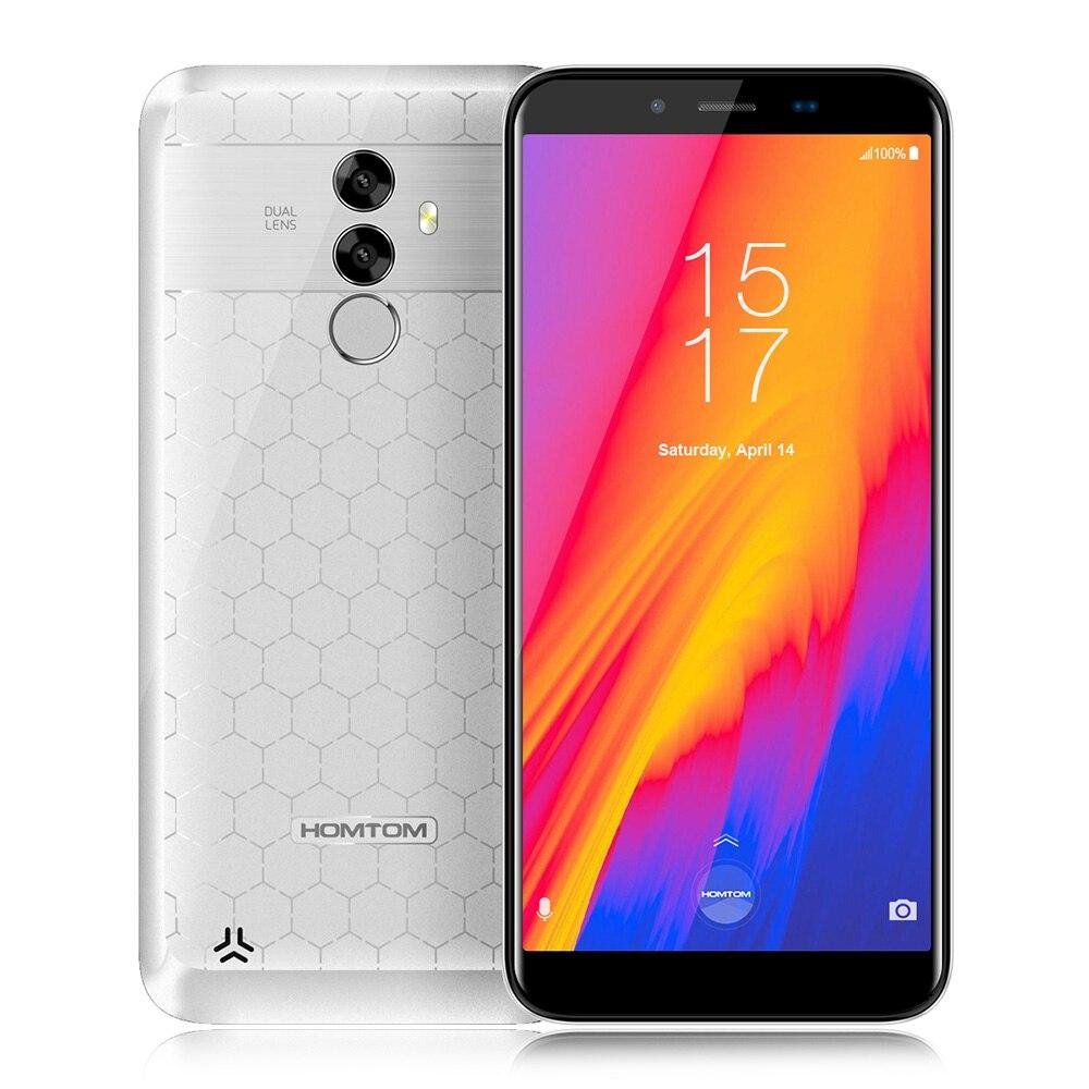 HOMTOM S99 4G Phablet 5,5 pulgadas Android 8,0 MTK6750 cara ID 4 GB RAM + 64 GB ROM 21.0MP dual volver cámaras 13.0MP 6200 mAh OTG blanco