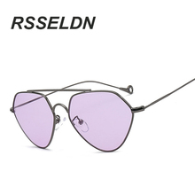 RSSELDN 2017 Fashion Women Cat Eye Sunglasses Brand Design Triangle Shape Sun Glasses Female Glasses Lens Oculos UV400