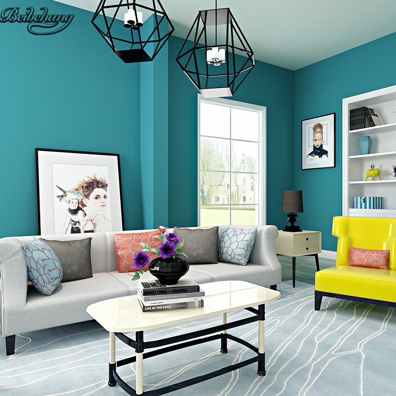 beibehang Modern minimalist non - woven wallpaper matte pure plain warm bedroom living room TV backdrop home decoration