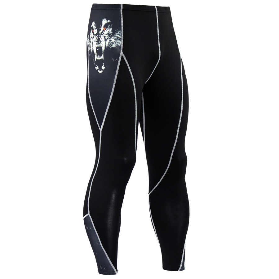 Модный мужской компрессионный комплект, базовый слой, облегающий кожу, ММА, тренировка, фитнес, мужской комплект одежды, костюм с длинными рукавами, топ, кожа, обтягивающие леггинсы