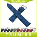 Croco Genuína Pulseira De Couro 18mm 20mm 22mm 24mm Universal Faixa de Relógio de Aço Inoxidável Fecho Pulseira Colorida pulseira Homens Mulheres