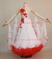 Ballroom Dance Competition Dresses Custom Made High Quality Modern Flamenco Waltz Dancing Dress Standard Ballroom Costume Women