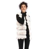 Зимний женский жилет из искусственного меха без рукавов, меховое пальто, женская верхняя одежда, жилет