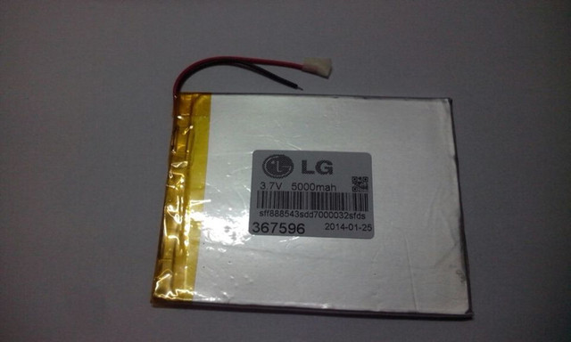 Tablet pc 3.7V,5000mAH (polymer lithium ion battery) Li-ion battery for tablet pc 7 inch 8 inch 9inch [367596] Free Shipping
