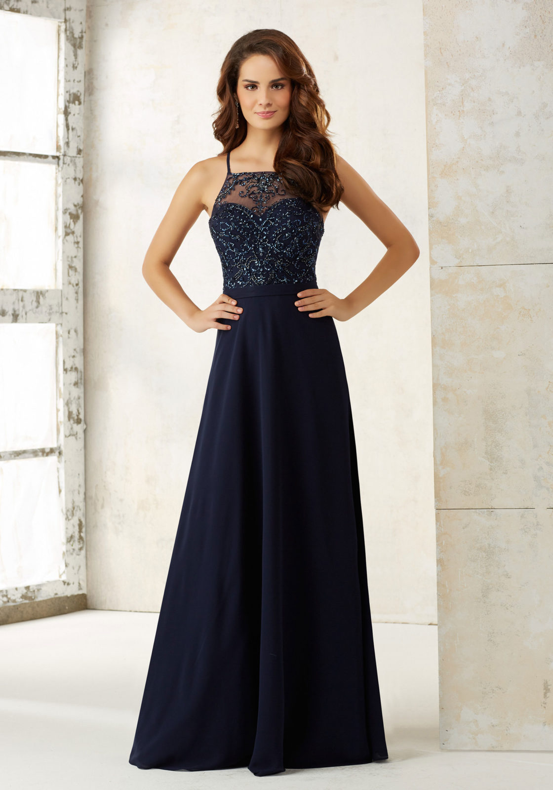 Popular romantic bridesmaids dresses buy cheap romantic romantic beading navy blue long bridesmaid dress 2017 mermaid spaghetti wedding party dresses junior maid of ombrellifo Images
