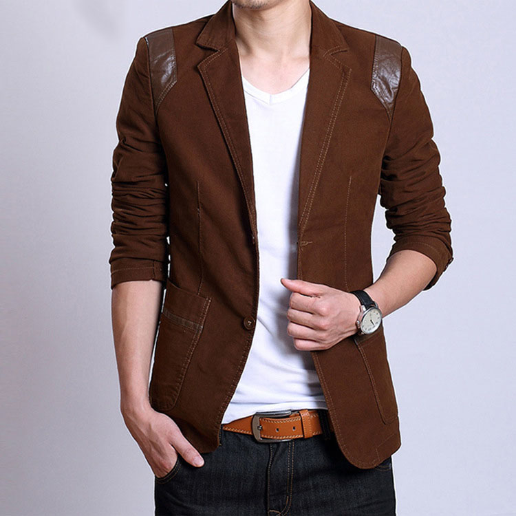 Popular Men Leather Blazer-Buy Cheap Men Leather Blazer lots from ...
