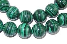 Perlas de malaquita 6 mm 8 mm 10 mm 12 mm cuentas de piedras naturales expositoras imitación de piedras preciosas diy accesorios de la joyería para los granos pandahall