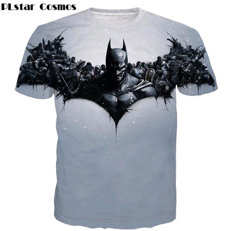 PLstar Cosmos 2017 Newest Summer Style t-shirt Comics Superhero Batman t shirts Hipster 3D t shirt Men Women Harajuku tee shirts