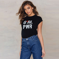 Black Floral Print Women T Shirt Slim Brand Hipster Ladies Tops Graphic Tees Guns N Roses
