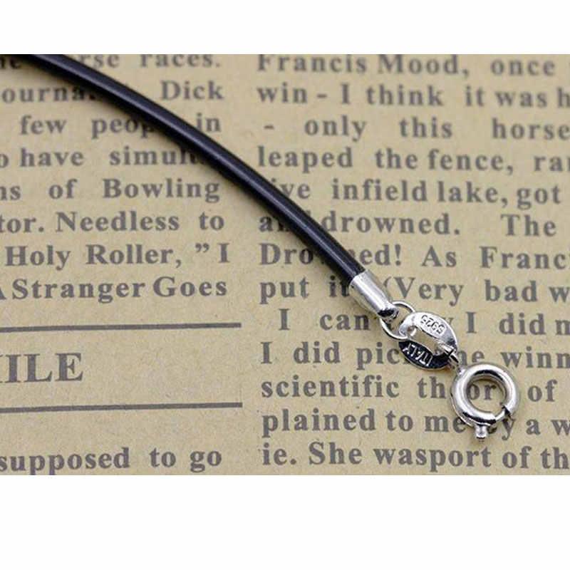 Skórzana linka naszyjnik mężczyźni i kobiety Pu skórzany naszyjnik ze sznurka biżuteria gorąca sprzedaż cały mecz łańcuch dla kochanka wisiorek liny