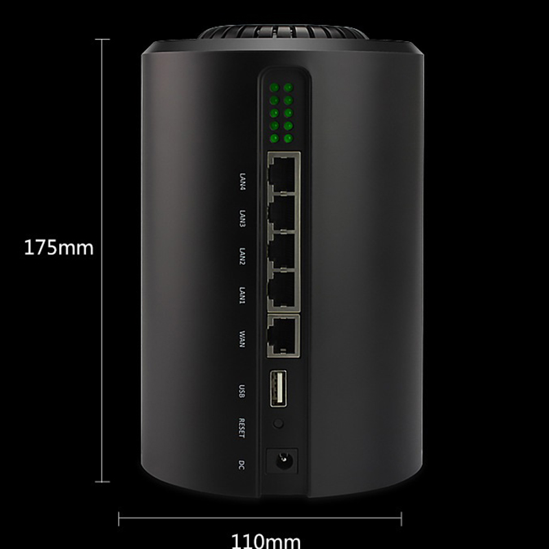Image 4 - 11AC gigabit 5G router wifi repeater 1200Mbps dual band through wall high power range extender access point long range-in Wireless Routers from Computer & Office