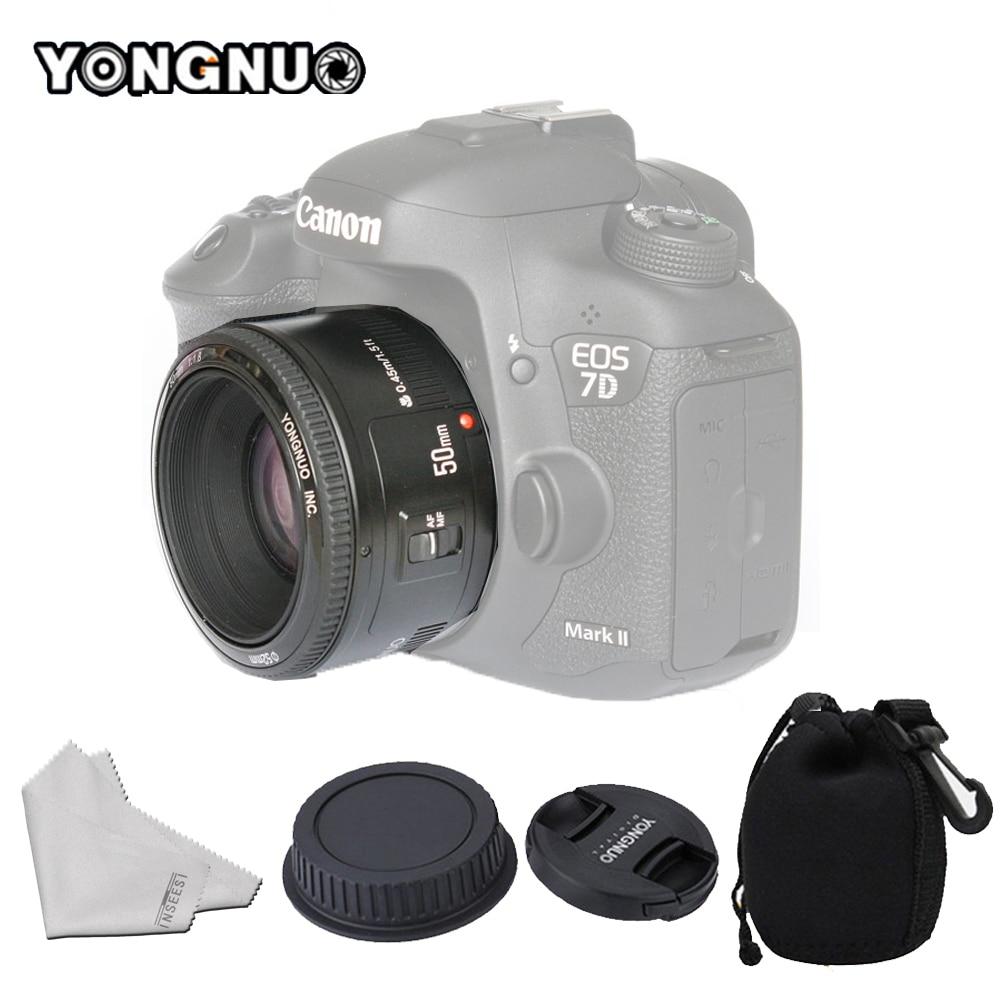 YONGNUO YN50mm f1.8 YN EF 50mm f/1.8 AF Lens YN50 Aperture Auto Focus for Canon 1000D 1100D 450D 500D 550D 600D 60D 5D Mark III godox rc c1 wired shutter cable for canon 60d 550d 1000d 500d 450d 600d k 7 k20d black