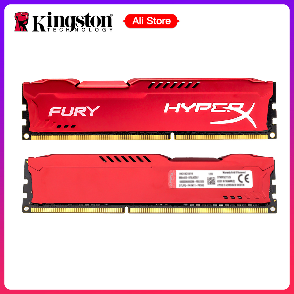 Kingston HyperX FURY 4GB 8GB 1866 MHz DDR3 CL10 240Pin DIMM 1.5V Untuk Desktop PC Intel Memory RAM Merah Komputer Memory Gamer DIV