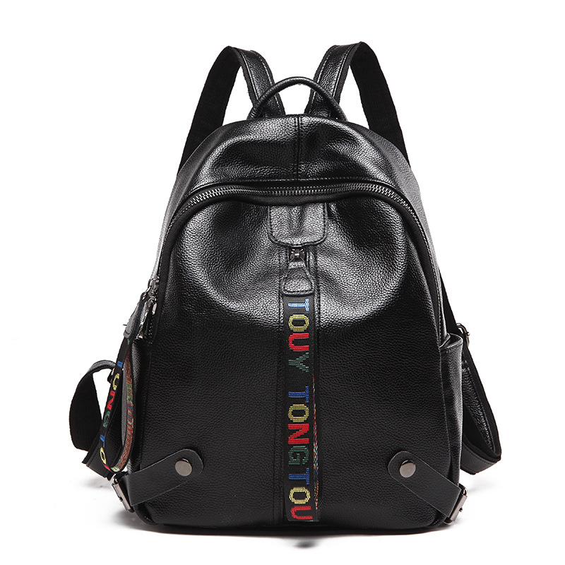 New Europe and the United States fashion Litchi Genuine Leather backpack women luxury brand travel backpack luxury school bags