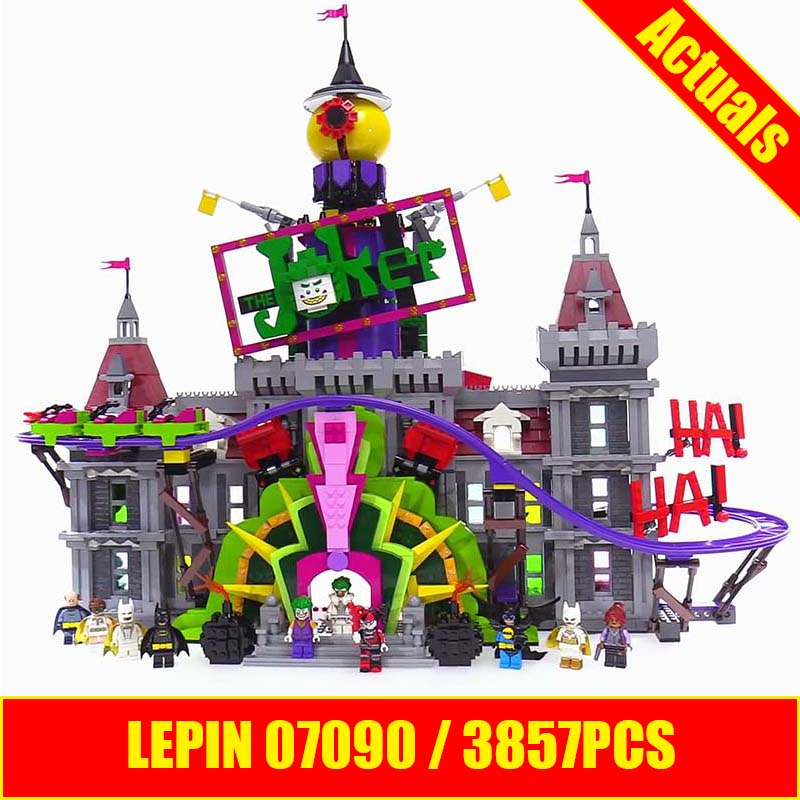 Lepin 07090 3857Pcs Super Hero Series The Joker`s Manor Set 70922 Model Building Blocks Bricks Toys for Block Fans Gifts lepin 07038 1165pcs super hero spiderman web warriors ultimate bridge battle building block compatible 76057 toys for boys gifts