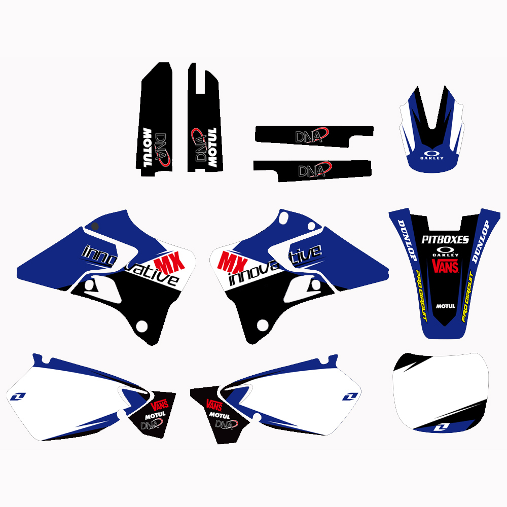 купить H2CNC Motorcycle TEAM GRAPHICS BACKGROUNDS DECALS STICKERS Kits For Yamaha YZ125 YZ250 YZ 125 250 1996-2001