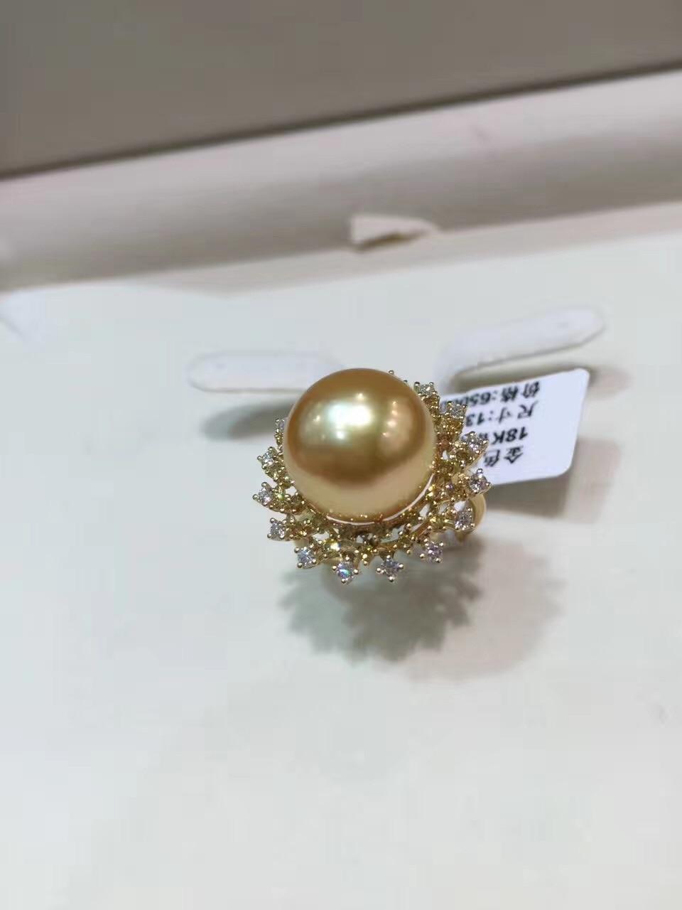 12-13MM φυσικό χρυσό δαχτυλίδι - Κοσμήματα - Φωτογραφία 3