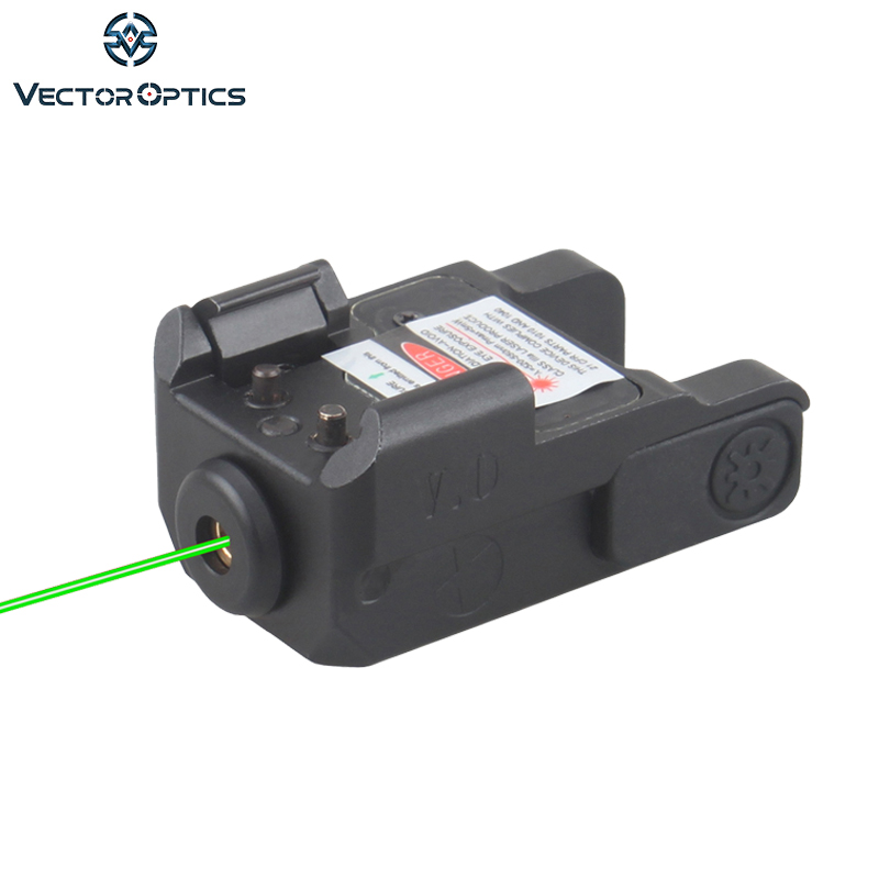 Vector Optics Micro Blitz Pistol Mini Green Laser Size 29mm 1.1 Strobe Function For Compact Pistol image