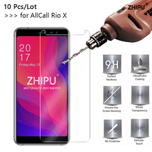 10 Pcs Tempered Glass For Allcall Rio X MTK6580 Glass Screen Protector 2.5D 9H Tempered Glass For Allcall Rio X Protective Film