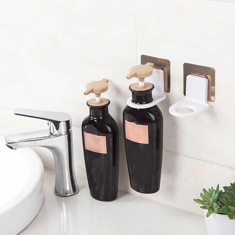 Proste ściany szampon Rack ssania hak ścienny mydło w płynie uchwyt na ręczniki wieszak na ręczniki łazienka żel pod prysznic kuchnia wielofunkcyjny wieszak na butelkę