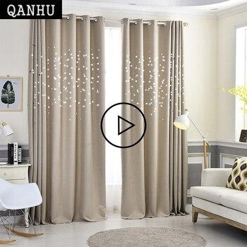 qanhu moderne sterren gordijnen voor woonkamer kwaliteit gratis verzending slaapkamer gordijn deur gordijn voor keuken plf 10