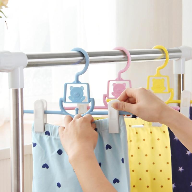 Perchas de plástico, niños, pantalones, perchero, ropa de bebé, perchero, pequeñas perchas para ropa