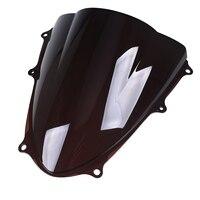 Black Clear Windshield Motorcycle Windscreen Double Bubble Wind Deflector For Suzuki GSXR1000 GSX R1000 K9 2009