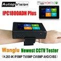 Wanglu Новые 4 дюйма наручные IP CCTV камера Камера тестер H.265 4K IP 8MP TVI 8MP CVI 8MP AHD DVR аналоговый 5-в-1 CCTV тестер для контроля уровня сахара в крови с WI-FI