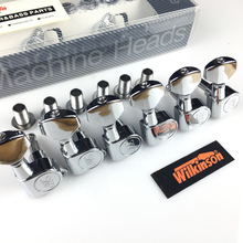 Wilkinson WJN 07 Electric Guitar Machine Heads Tuners for ST or TL Chrome Silver Tuning Pegs ( With packaging )