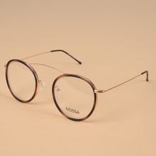 Ultralight Titanium Eyeglasses Frames Women Men Personality Round Fashion Optical Glasses Frame Female Trendy Clear Lens Eyewear