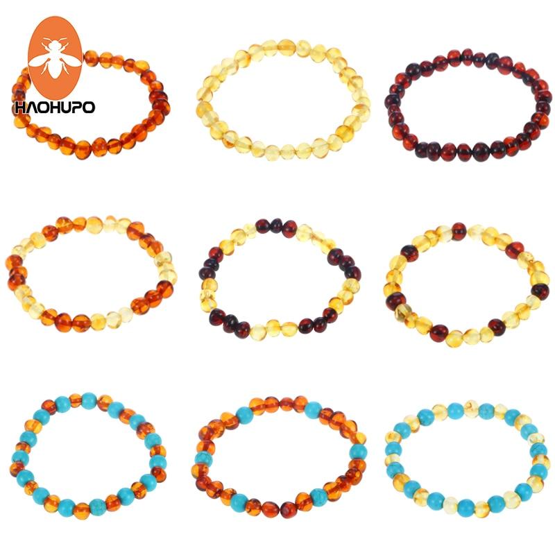 HAOHUPO 16 ոճեր Բնական սաթ թևնոցներ մեծահասակների համար Մեծահասակների համար Էլաստիկ զարդեր