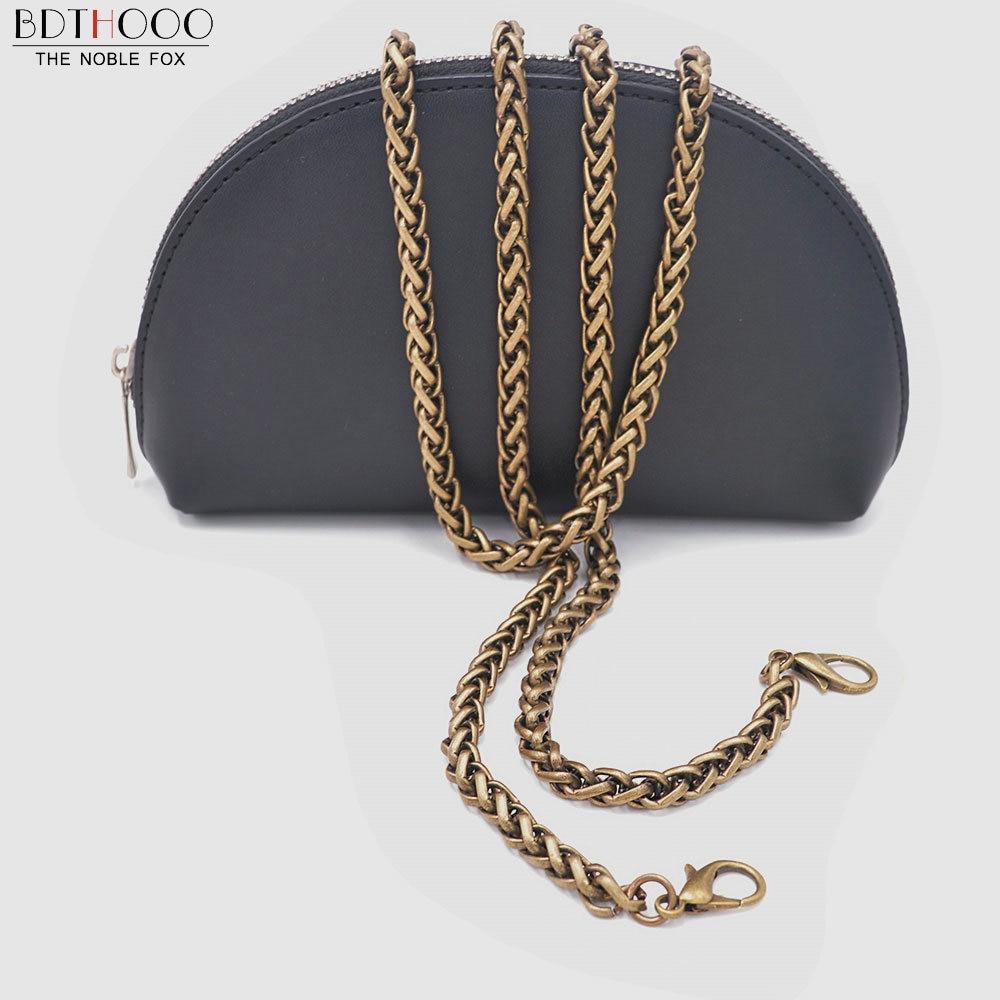 BDTHOOO 5pcs/lot 120cm Metal Chain For Bags Shoulder Handbag Lobster Buckle Clasp Handle DIY Strap Bag Accessories for Hardware