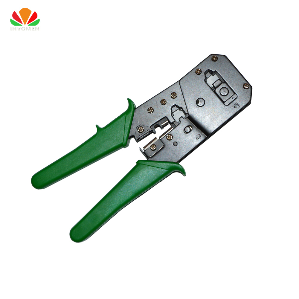RJ45 Network cable Crimper RJ11 telephone line modular crimping pliers 8p8c 6p6c 4c Crystal Head making wire Stripping cut Tool(China)