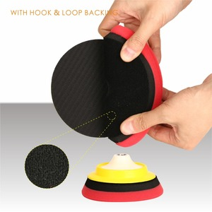 Image 5 - SPTA Compound Polishing Pads for 5 inch Polisher Buffing Buffer Pad Set For DA / RO Dual action Car Polisher Sander Select Color