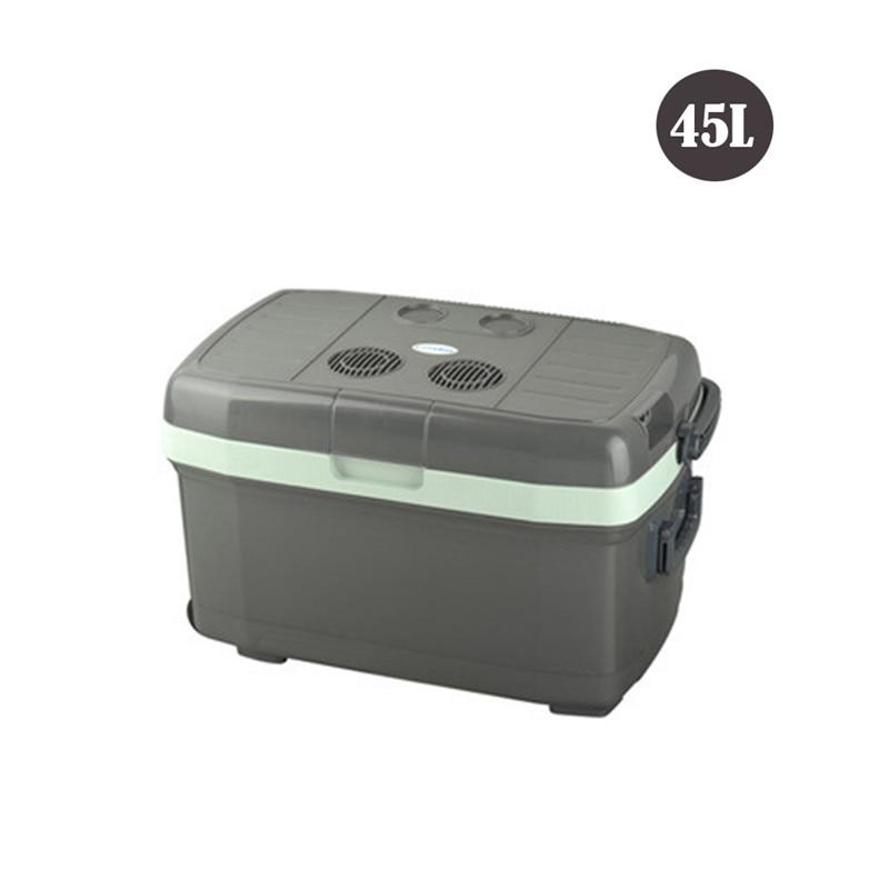 45L Large Capacity Car Refrigerator Mini Portable Outdoor Refrigerator Medicine Cooler Freezer Warmer Refrigerator Fridge
