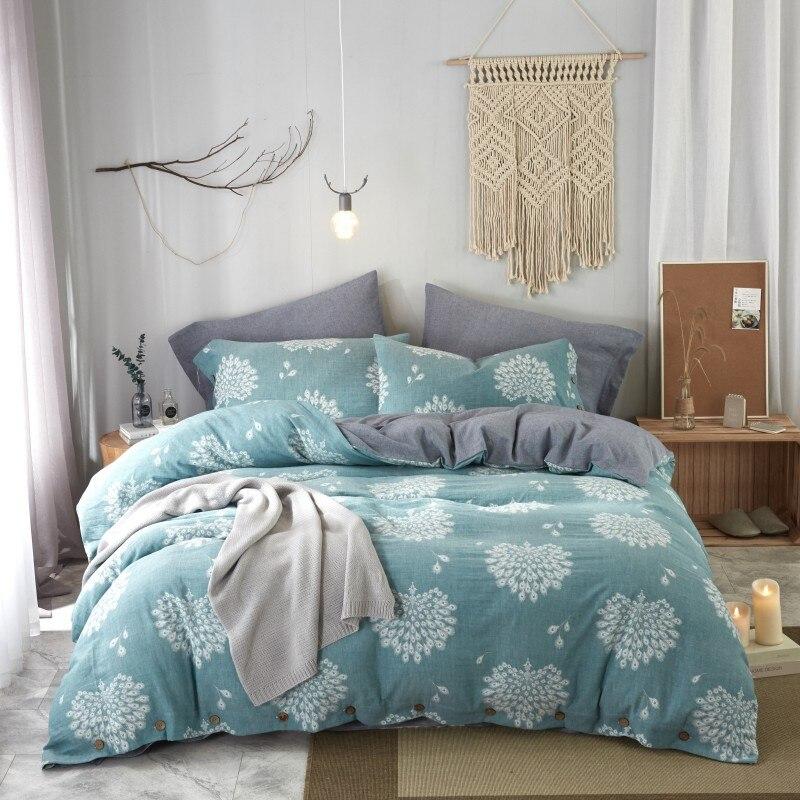 Набор постельного белья из жаккардового хлопка с двойным крашеным рисунком 60 s, роскошный комплект постельного белья размера King Queen, пододея... - 6